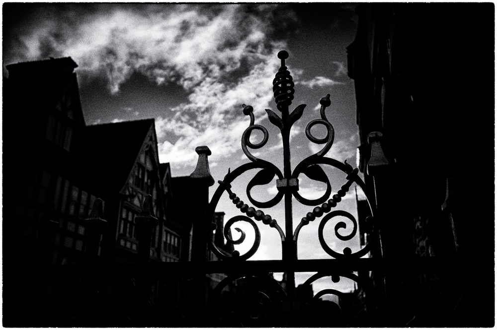 Wrought ironwork silhouette