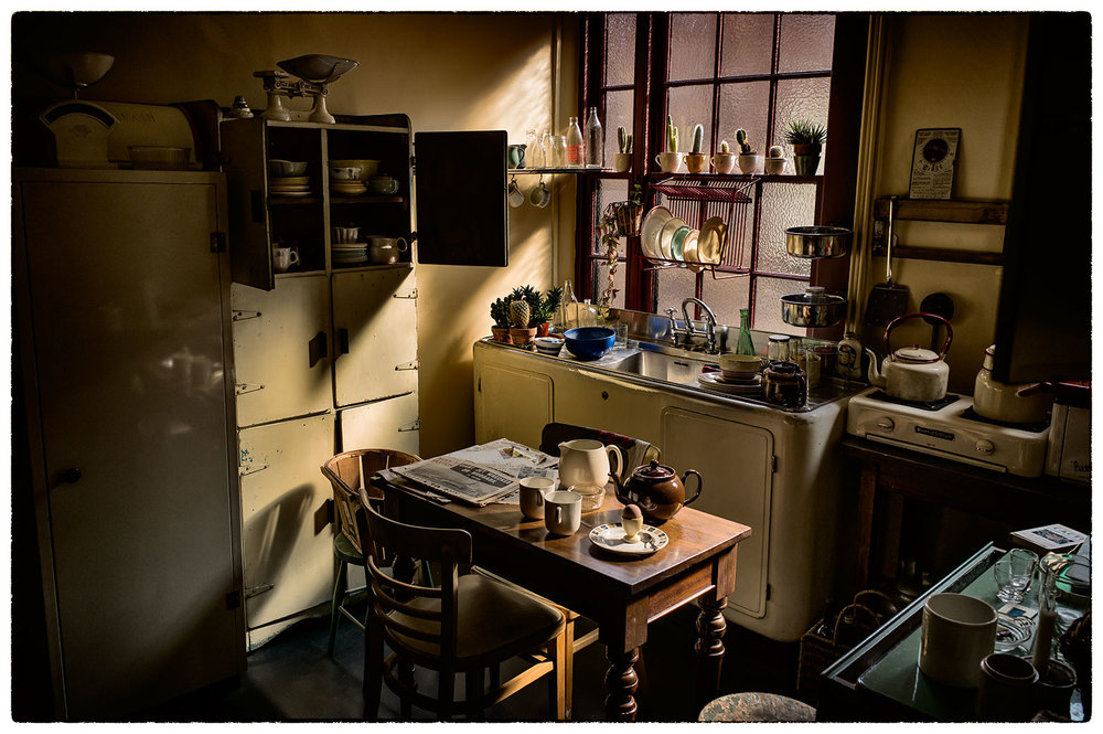 The original kitchen the house of famous 50s photographer Edward Chambré Hardman.