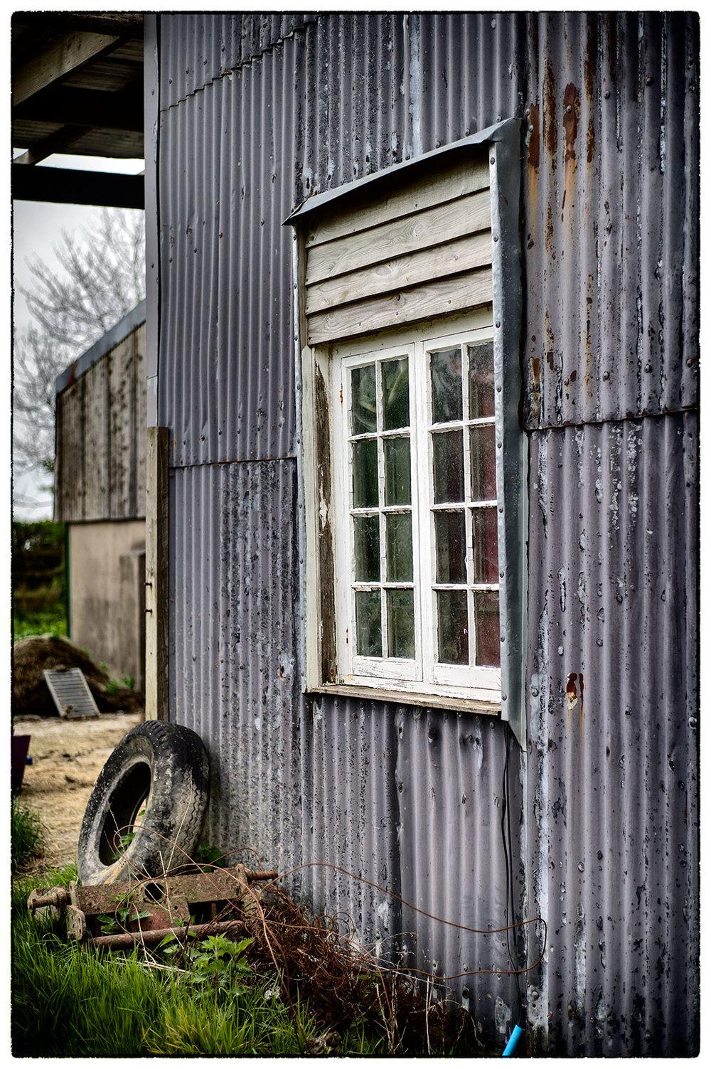 Not a barn door but a barn window. Yeo Farm, Devon.