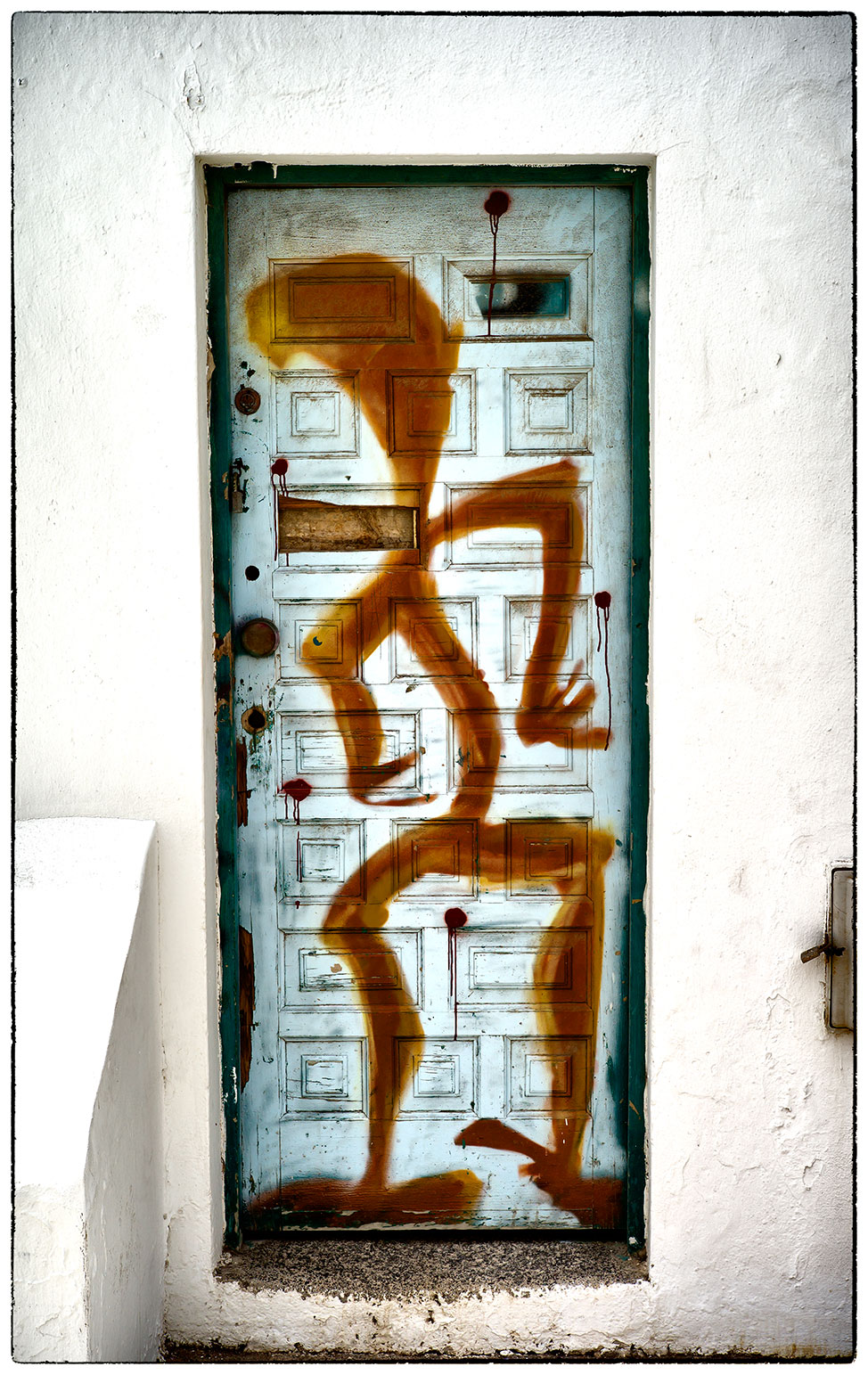 Door art in Corralejo.