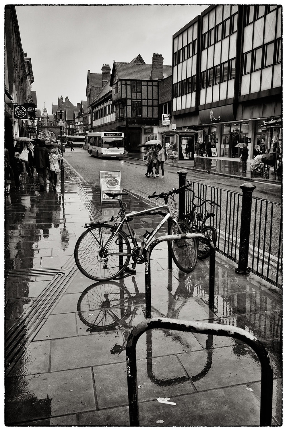 Back from holiday and back to reality! A wet day in Chester.