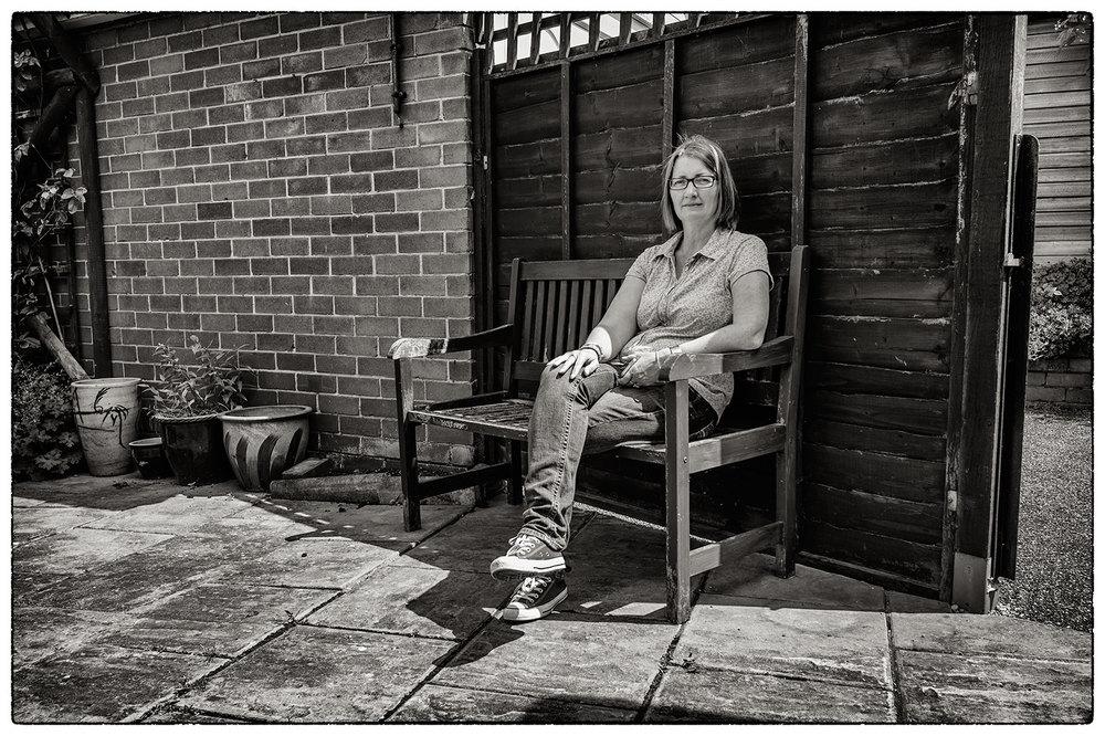 Rosie in her mum's garden.
