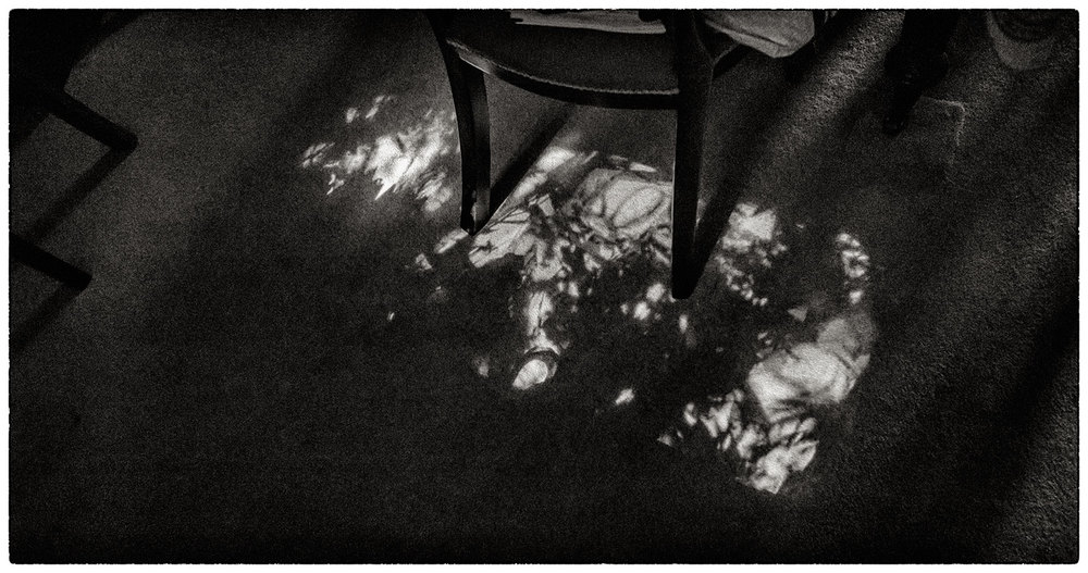 Our very own beautiful 'camera obscura' here on the dining room floor.