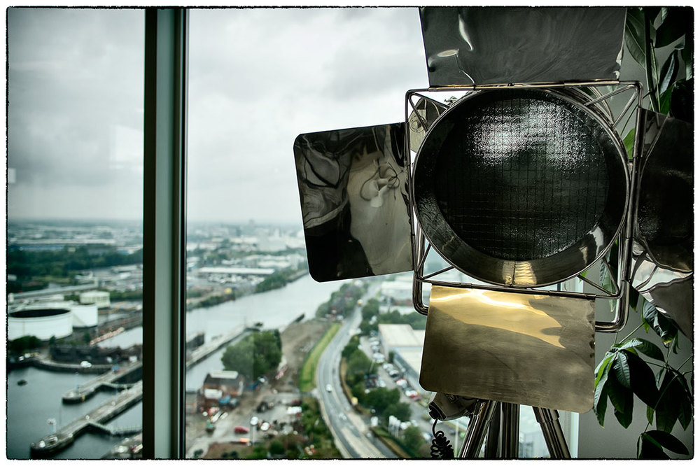 Looking out from the 18th floor in Mediacity, Manchester.