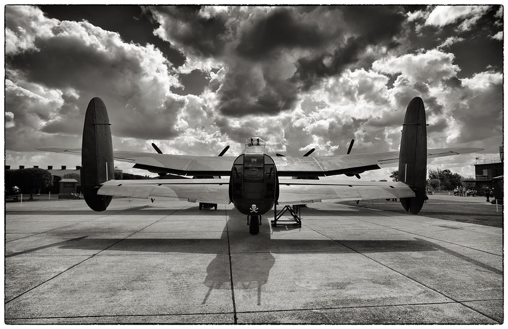 One of the three remaining and working Lancaster bombers, although this one on;y taxis.