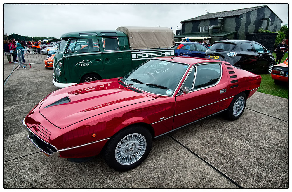 I can't resist Alfas!  Keep your Ferraris.  The Montreal, 2.5 V8 and a wonderful sound.