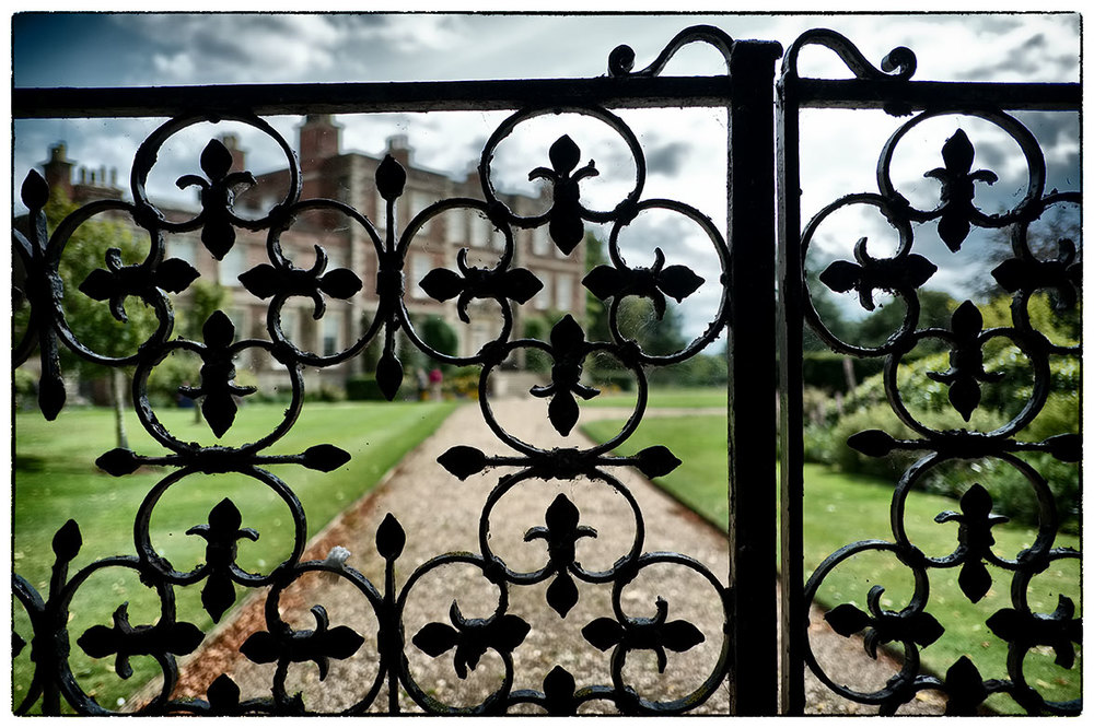 The gates at Gunby Hall, Lincolnshire.