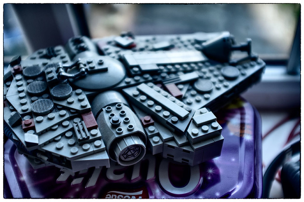 The Millennium Falcon, in Lego, of course.