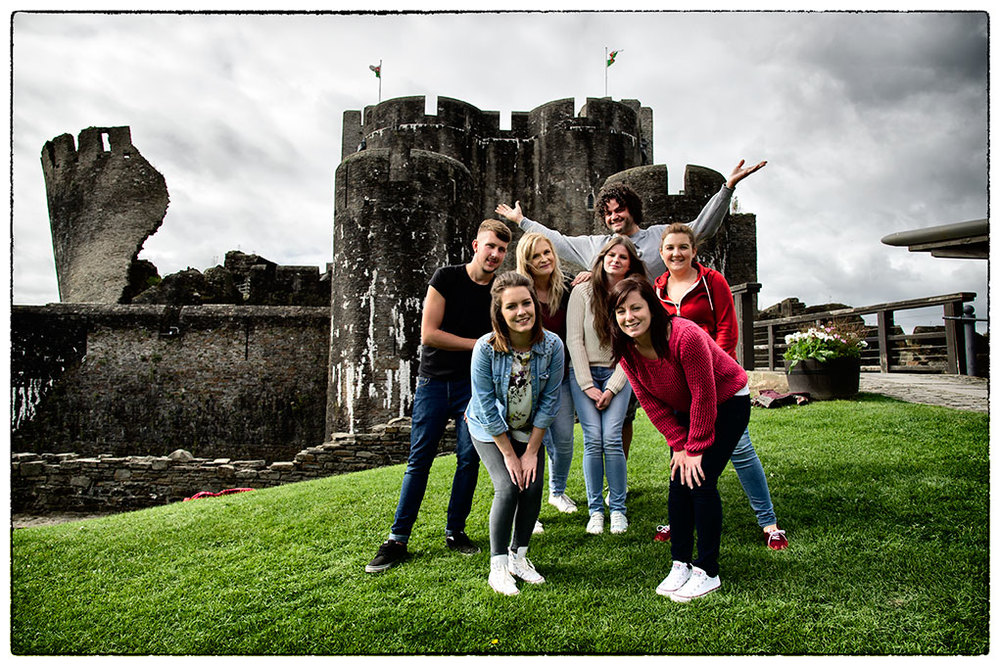 Part of the team for the filming last week in Caerphilly.