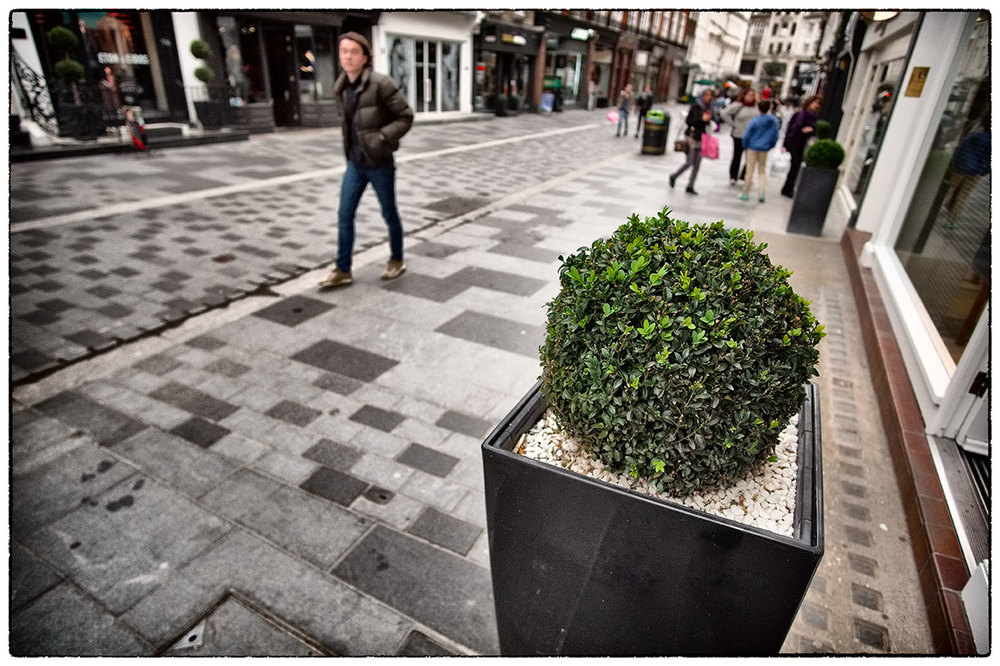 On South Molton Street, London, this afternoon.
