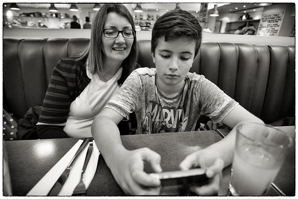 Ben and Rosie at Carluccio's in London yesterday.
