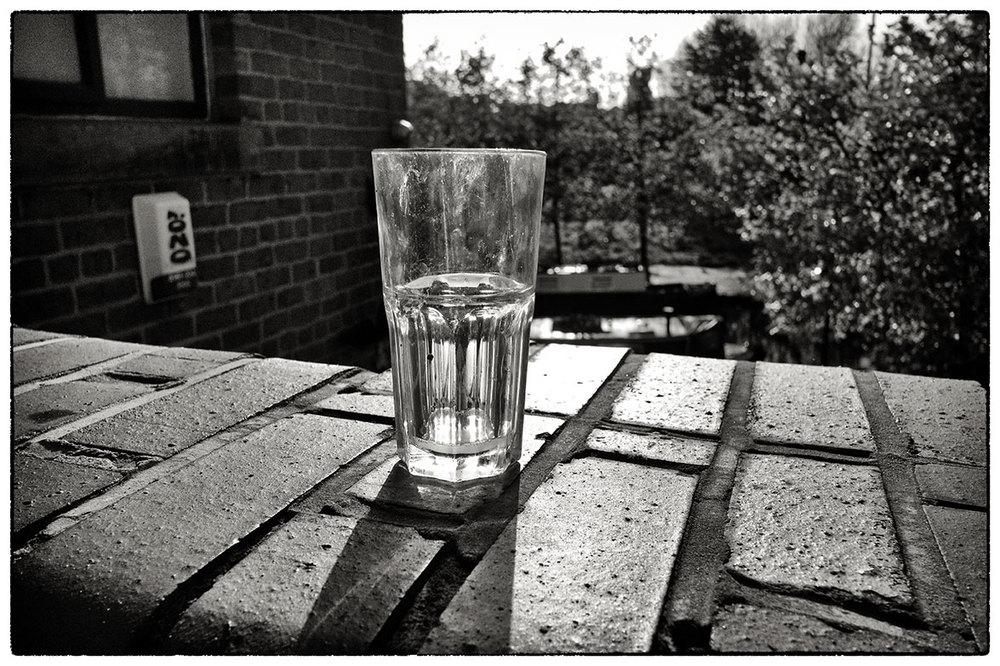Abandoned glass.