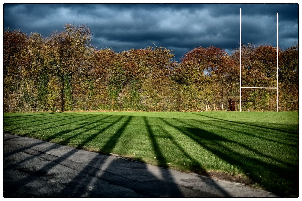 Dark skies and long shadows.  Early evening in Deeside.