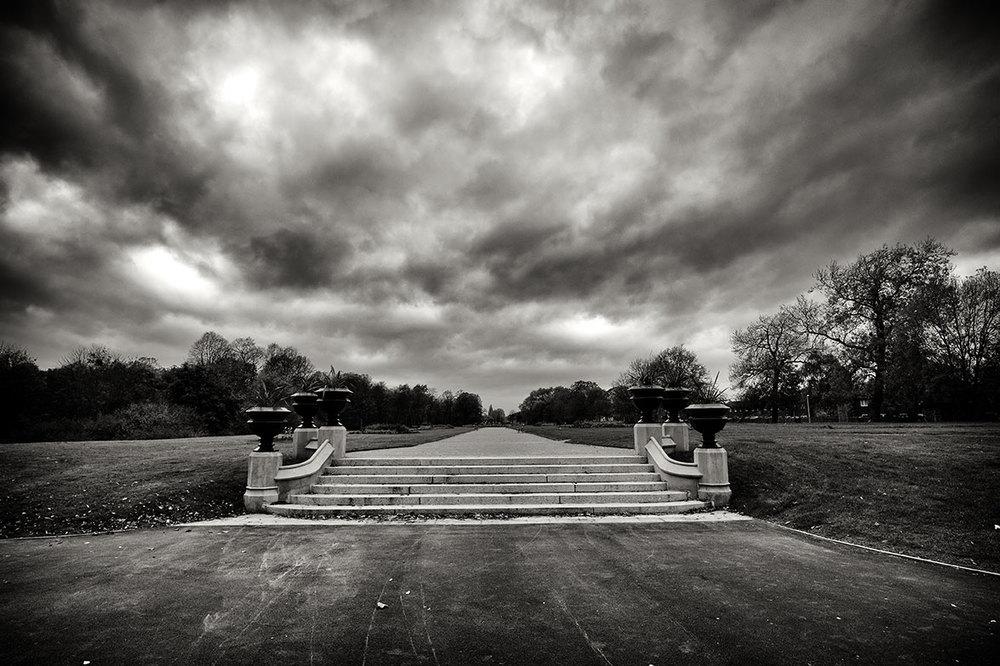 Empty path, Alexandra Park, Manchester.