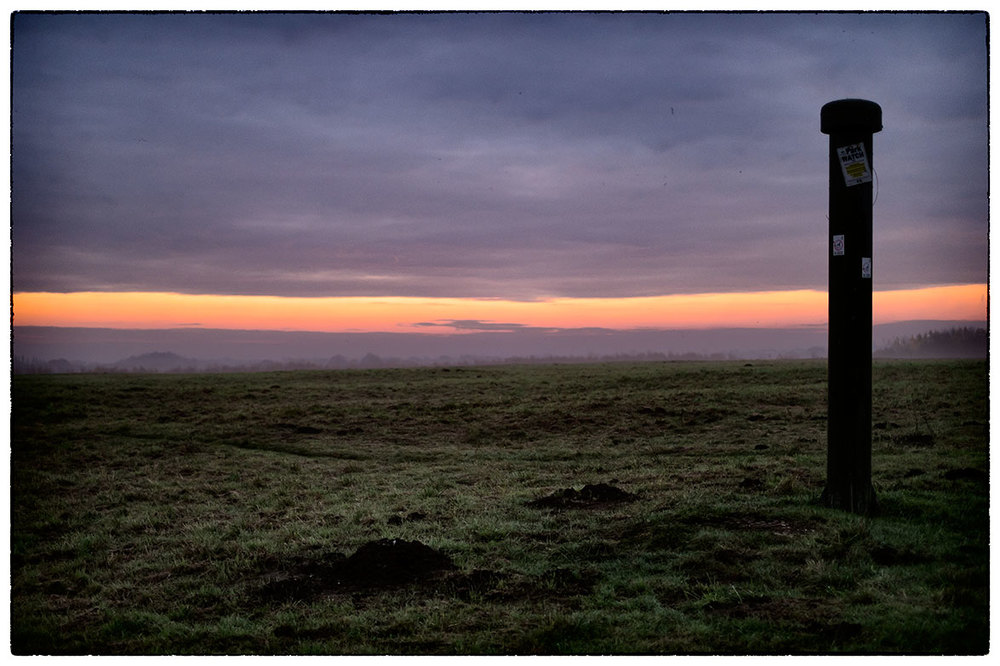Just before sunrise this morning in Alyn Waters.