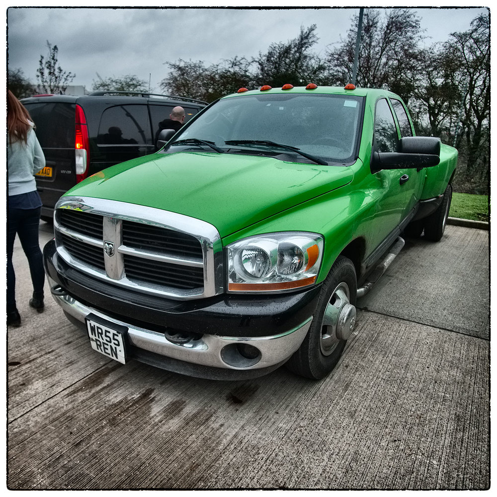 Working in Howden, East Yorkshire today and this was ion the carpark. Dodge RAM 6.4L V8 pickup!!!