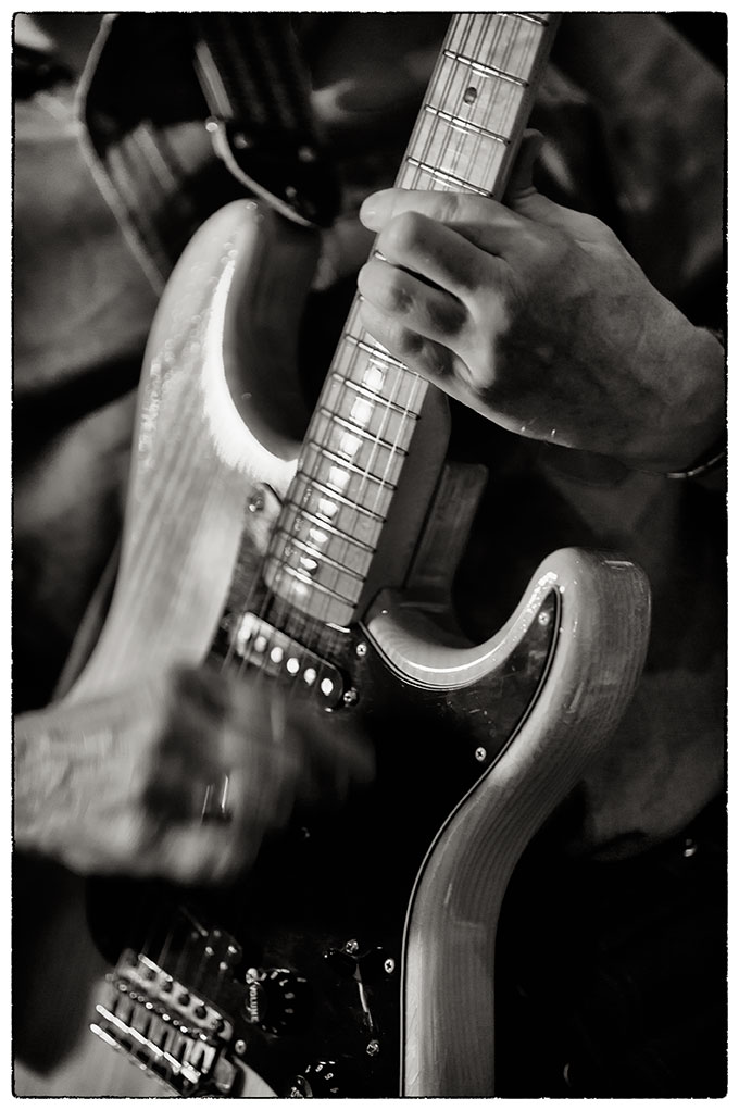 The iconic Fender Stratocaster courtesy of my good friend Graham Hurst .