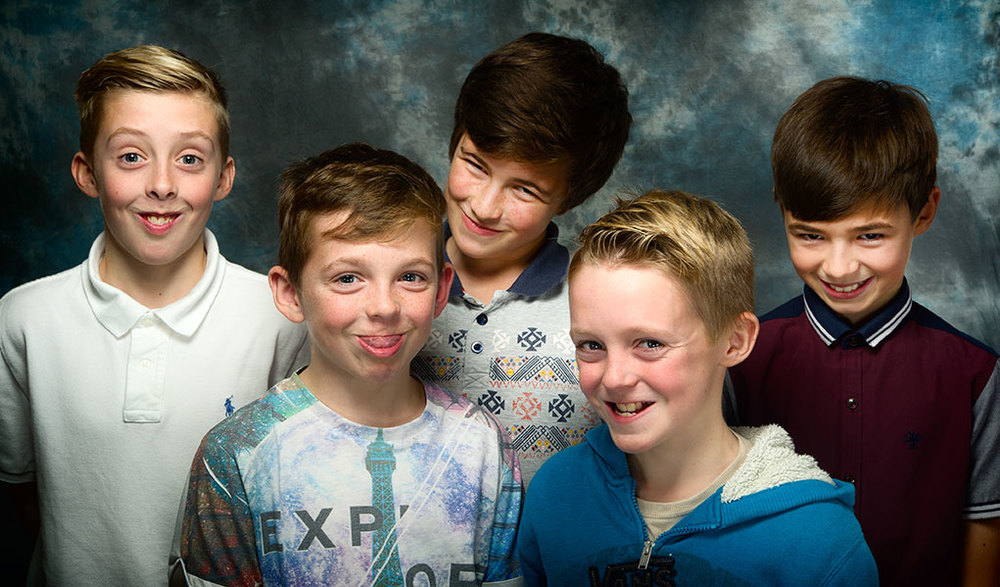 5 boys together in front of a camera, of course they'll behave! Yeh right!