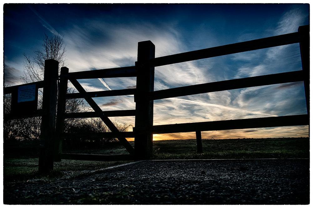 Sunrise this morning whilst walking the dog.