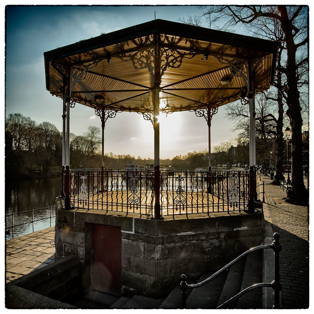 The Bandstand, Chester this afternoon.