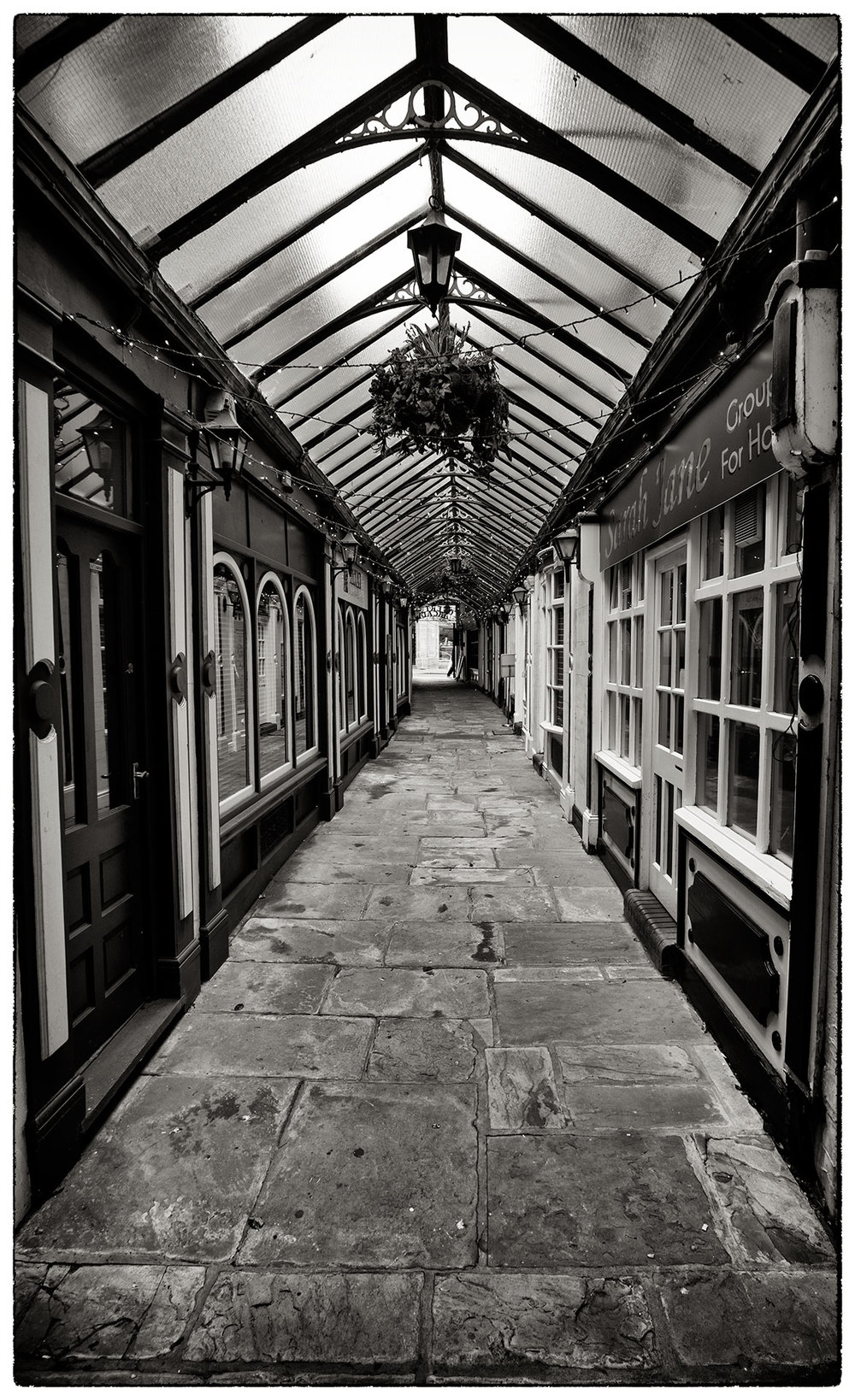 Empty arcade this lunchtime in Wrexham.