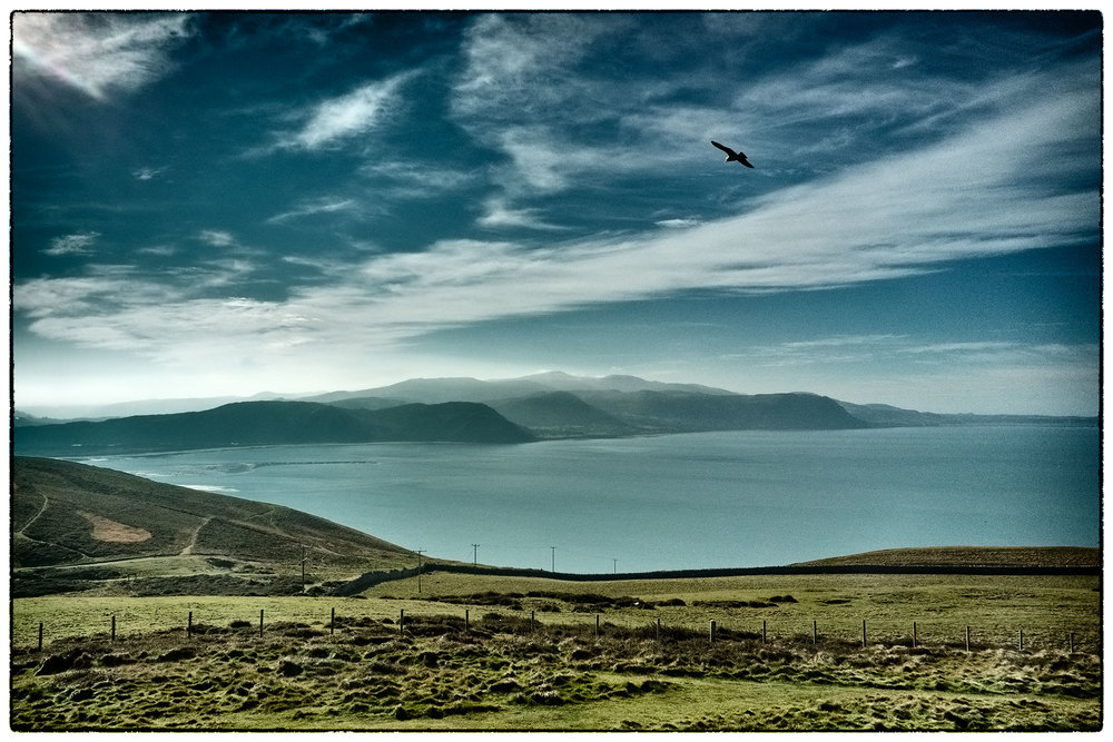 View from the Great Orme, Llandudno, this lunchtime.