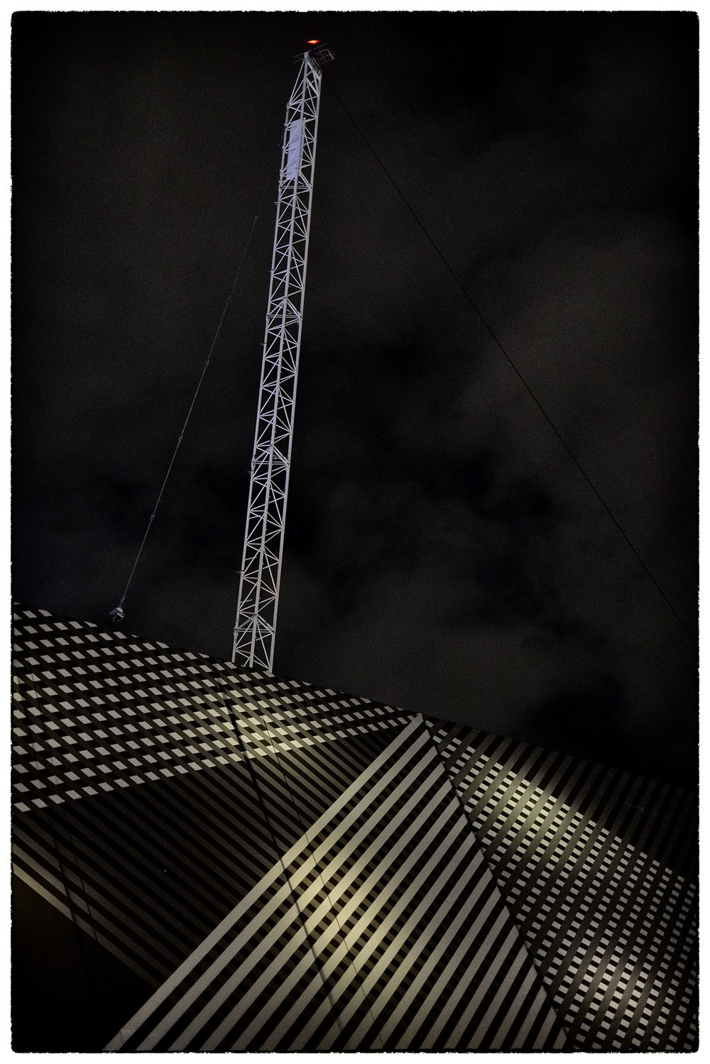 Crane above St James's Market, London, this evening.