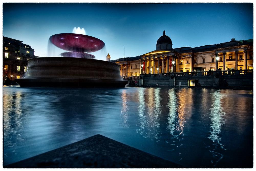 The National Portrait Gallery, Trafalgar Square, London.