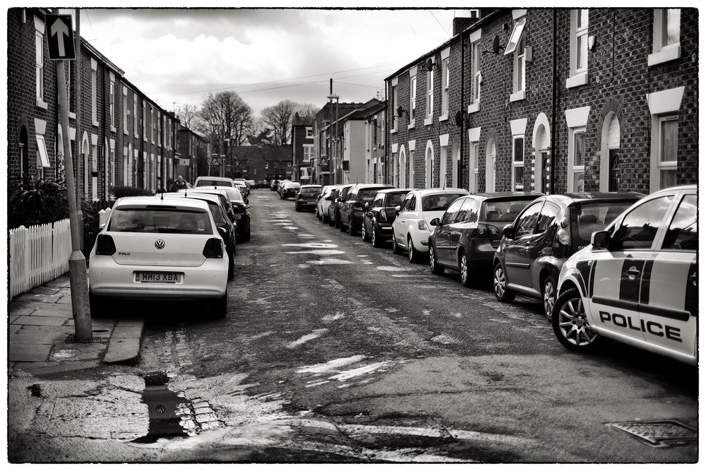 Parking at a real premium in Didsbury, must be really irritating if you live on this street.