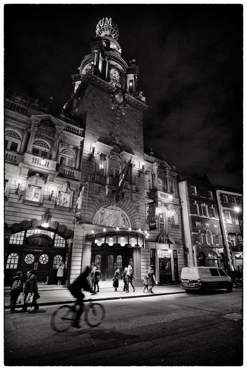 The Coliseum Theatre, just off Trafalgar Square, London.