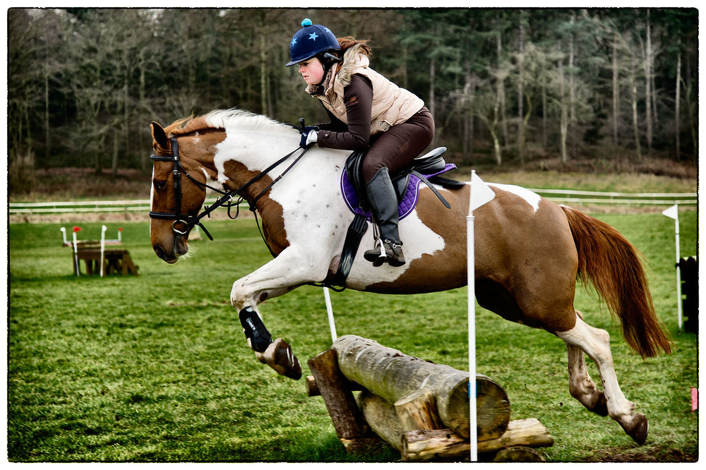 Alice and Willow in full flight during cross-country training at Kelsall today.
