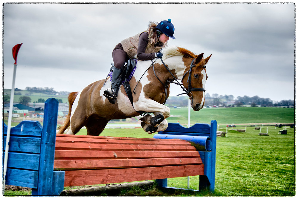 Alice and Willow once again at Kelsall, going for it!