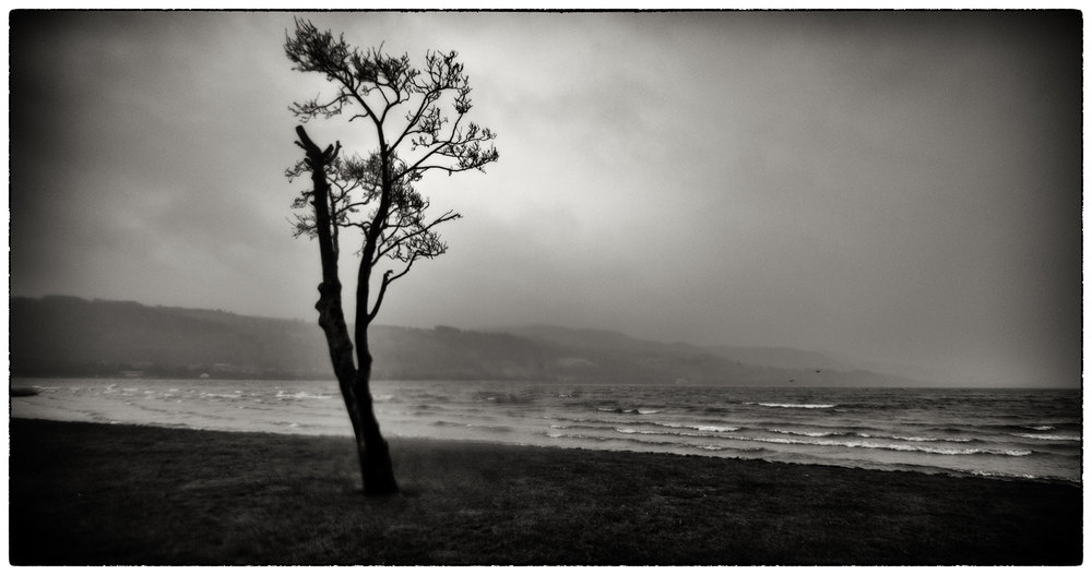 Bala Lake tonight just after sunset!!  Very windy, I have never seen waves on Lake Bala.