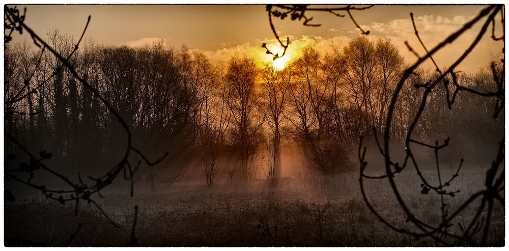 Sunrise this morning after a slightly misty start.