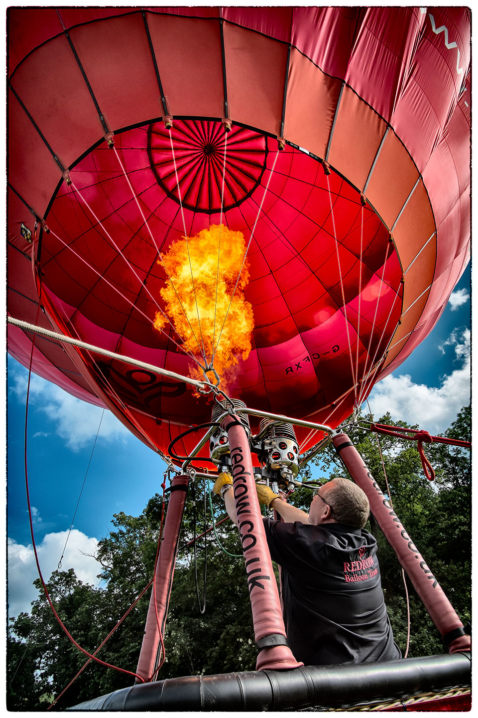 Readying the hot air balloon at Bolesworth today.