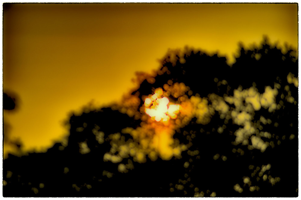 Setting sun.