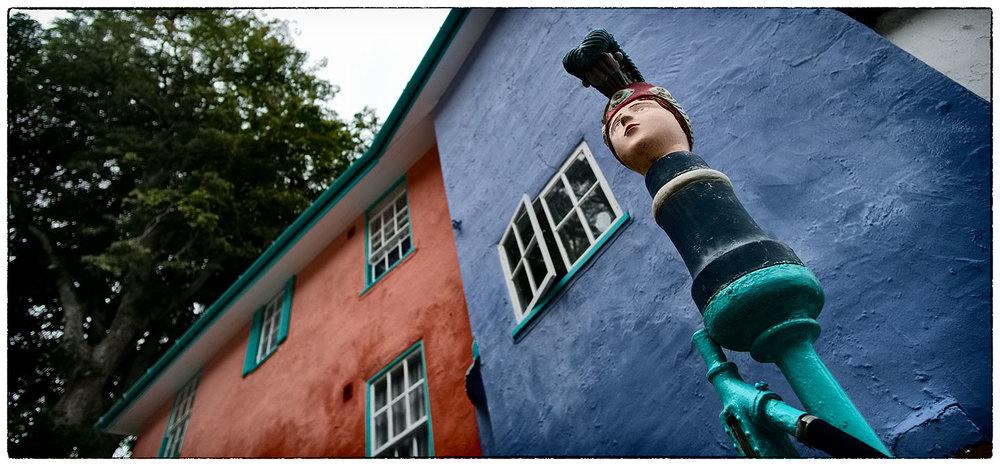 Decorative fire hose holder. Portmeirion. Wonderful details.
