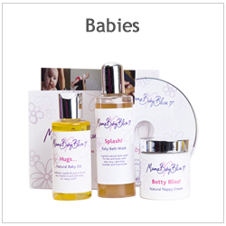 A set of MamaBabyBliss Natural Baby Products