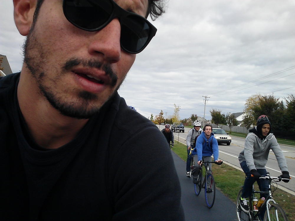 Manny & crew in Lafayette on a Taco Roll - bike ride around town to a Mexican Restaurant for Tacos.