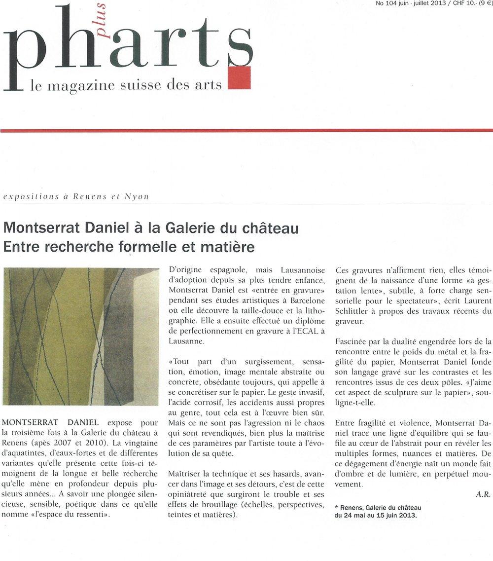 magazine PH+ARTS, juin - juillet 2013