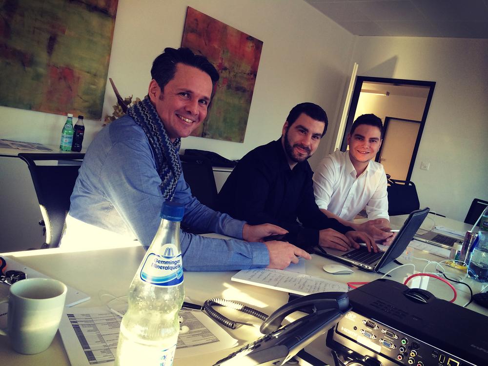 Patrick Ganzmann, Thomas Herbert & Reto Rutz während des Customer Journeys