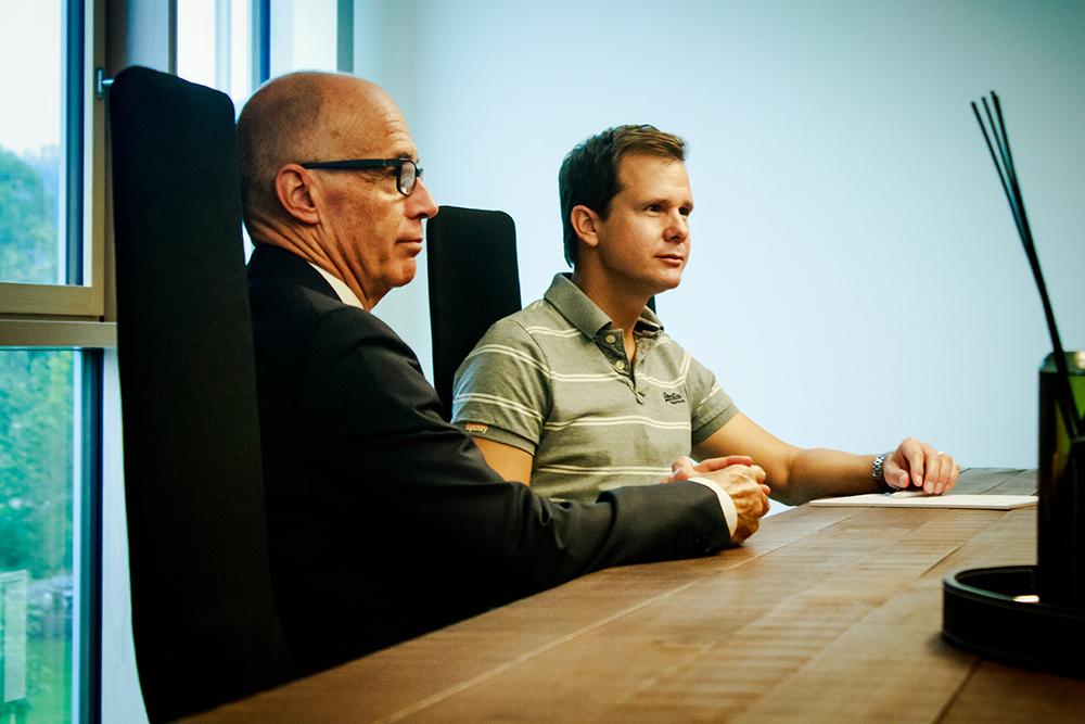 Thomas Scheitlin, Stadtpräsident St. Gallen und Christian Heim, Geschäftsführer movento Schweiz AG