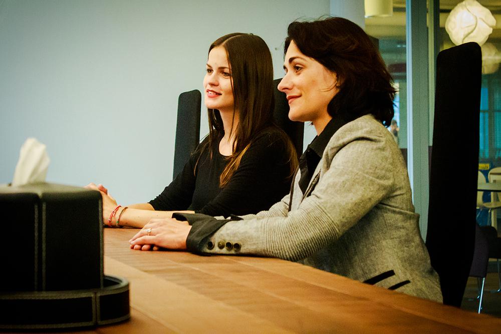 Isabel Schorer, Leiterin Standortförderung St. Gallen und Andrea Hefti, Business Development und Recruiting,movento Schweiz AG