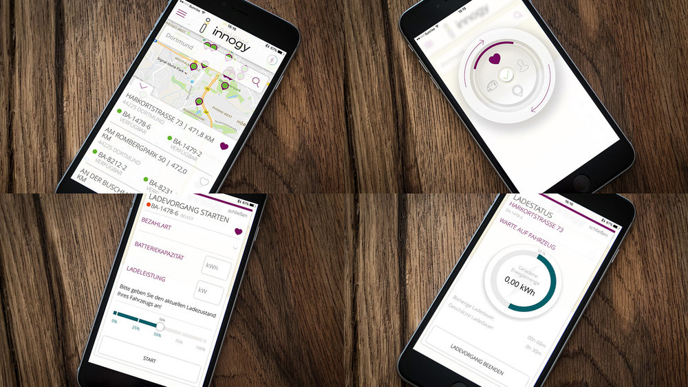 eCharge-App after redesign