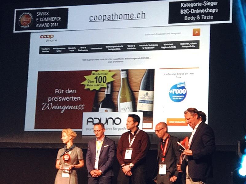 Das Team von coop@home in der Kategorie B2C Body & Taste