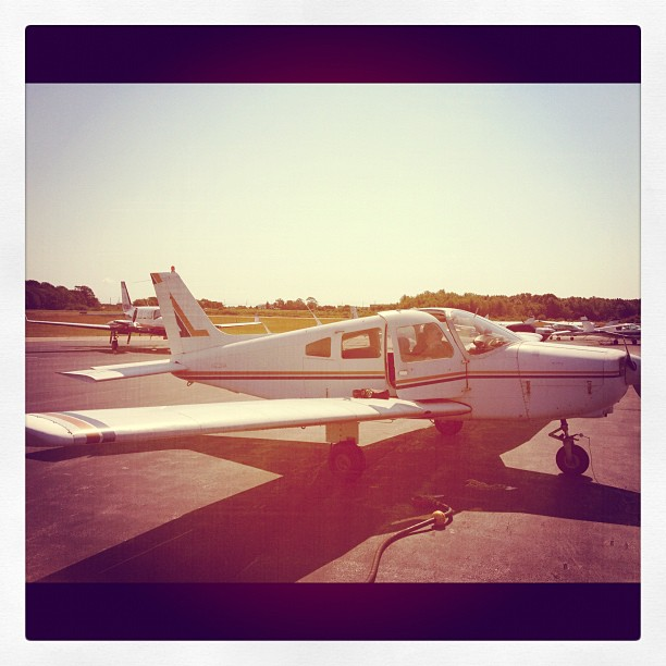 Only a few more hours until my first solo! Terrifying  (Taken with  Instagram )