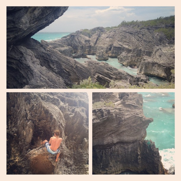 #Bermuda #climbing at its finest! #deepwatersoloing