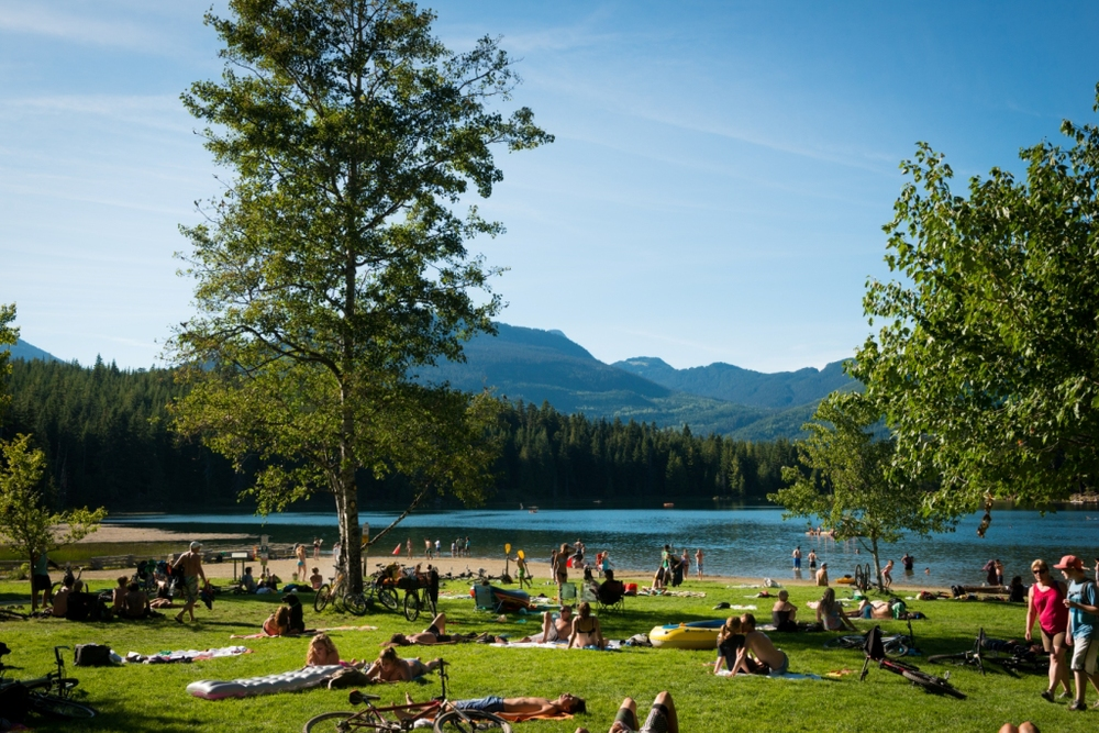 Yes there are beaches in Whistler