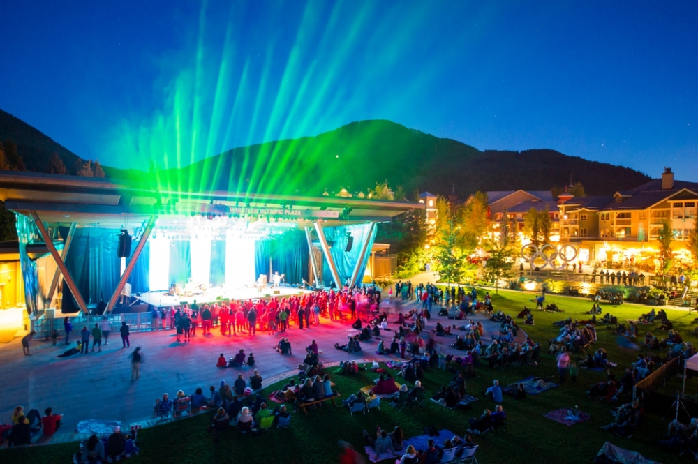 Free summer concert at Whistler Celebration Plaza