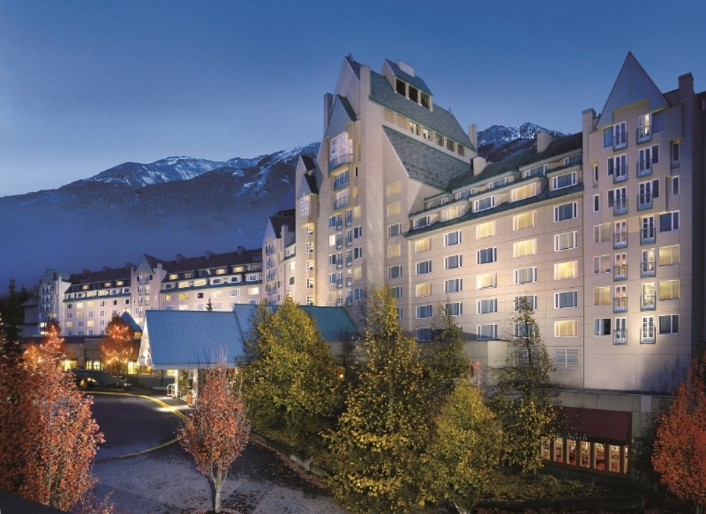 The superb Fairmont Chateau Whistler